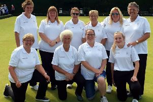 The Borders ladies (picture from Gala Waverley Bowling Club)