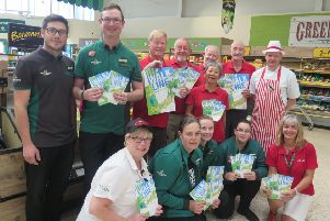 Ageing Well volunteers popped in to the Morrisons in Dalkeith to thank staff for supporting the latest Walk the Line event.