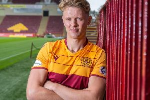 Mark O'Hara in Motherwell colours (Pic courtesy of Motherwell FC)