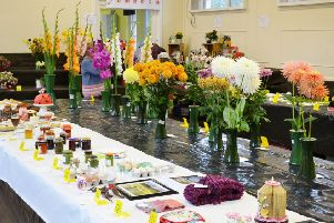 The Pathhead and District Horticultural Society's 67 th Annual Flower Show on Saturday, August 31st in Pathhead Community Hall. Photo by Bob Miller.