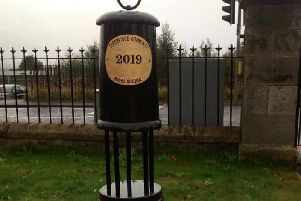 The new memorial to mine workers in Gorebridge
