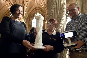 Rosslyn Chapel is using 21st century technology to make key features of the 15th century Midlothian building more accessible for visually impaired visitors. Photo by Lisa Ferguson.