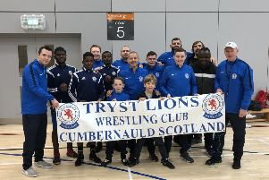 Tryst Lions at this year's Scottish championships.