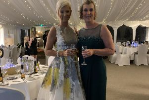 Karen Hilton and Carol Robinson at the charity ball for Make 2nds Count, held recently at Melville Castle.