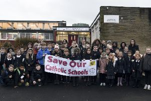Children and parents at St Luke's are worried the school will close. Photo by Lisa Ferguson.