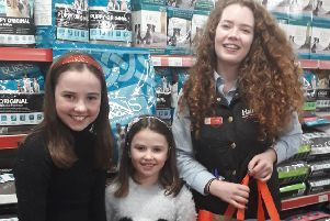 Kirsty and Ailie Sievwright with Jemma Lawrence from Harbro Dalkeith.