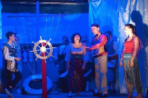 Pathhead Players' pantomime production of Sinbad the Sailor.