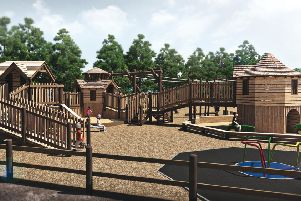 An artist's impression of the new Mini Maze Toddler Play coming to Dalkeith Country Park.