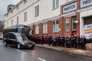 Applause greeted Colin Weir's funeral cortege at Firhill (pic: John Devlin)