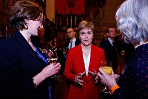 Midlothian's Joy Godfrey (left) with First Minister Nicola Sturgeon and SCVO Head of Communications Ann Rowe.