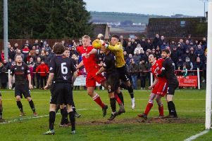 Clyde keeper David Mitchell made some crucial saves in the Bully Wee's win at Bonnyrigg (pic: Scott Loudon)