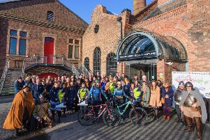 Group photo of all guests that attended the Scotland Starts Here Launch with Go-Where Scotland and Beirhope Alpacas and Steel Bonnets at the National Mining Museum, Newtongrange. Photo by Phil Wilkinson - Philspix.