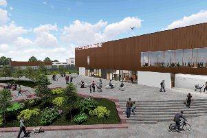 An artist's impression of the planned hub at Danderhall.