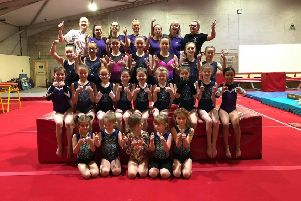 The Meadowbank Gymnastics Club open day at their new gymnastics premises in Mayfield, Dalkeith (part of the Ryze Adventure park complex).