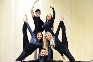 Pic Lisa Ferguson 03/02/2020''Lauren innes, Ellie McCormack, Olivia Fraser.''Aidan steel, Iona Livingstone''@Dance Scotland are the first Dance School in Midlothian to have students successfully auditioned to represent Team Scotland at the Dance World Cup in Rome in Summer 2020