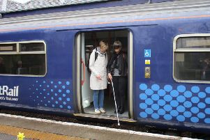 Students put themselves in the position of visually impaired passengers to find out how they experience travel.