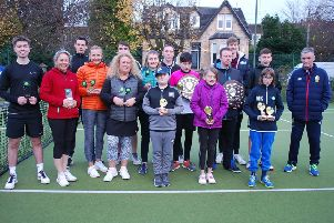 Prize winners at the Drumchapel tennis tournament