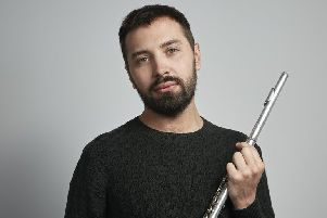 Flautist Adam Walker will be performing for Milngavie Music Club at Cairns Church on Friday, February 8. (Photo: Christa Holka)