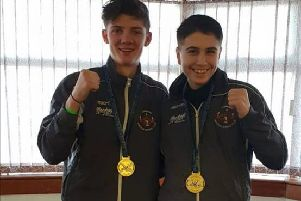 Jack Grant and Charlie Dent, both gold medal winners