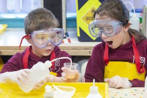 Pupils atClober Primary School will be taking part in a Generation Science 'Fizz, Boom, Bang' chemistry workshop.