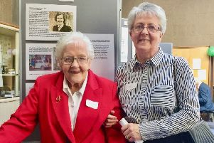 L-R: Flora Macdonald, sister of Morag Macdonald, Milngavie's former midwife and district nurse, Mrs Catriona Macdonald, Flora's daughter.