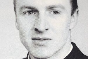 Rev. Andrew Forrest at the start of his career back in 1959.