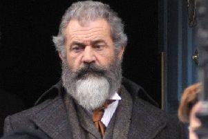 Mel Gibson during filming for the Professor and the Madman.