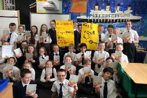 P6 pupils from St Andrew's Primary promote the Make It Grow project