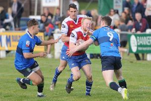 Rory Marshall on the attack for Jed against Boroughmuir in last weekend's Selkirk final (picture by Grant Kinghorn)