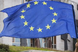The European Union flag outside Holyrood
