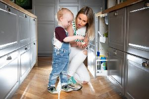 Morwenna Patrick and toddler son Cole from East Dunbartonshire. Copyright photo Paul Chappells 07774730898 www.paulphoto.co.uk