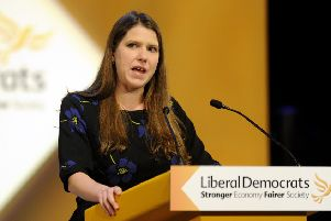 John Devlin 04/10/14. GLASGOW. Liberal Democrats hold annual conference in Glasgow. Jo Swinson MP Liberal Democrats, East Dunbartonshire.'The 2014 autumn Liberal Democrat party conference takes place this year at the SECC, in Glasgow. The conference is expected to debate a number of controversial issues in which there are likely to be passionate differences of opinion and may therefore be taken as a litmus test of the party's political mood.