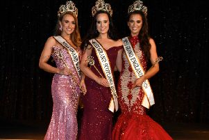 Miss Grand Scotland Freya Taylor (centre) with fellow winners Emma Davies (Wales) and Ashleigh Wild (England). Pic: Brian Hayes