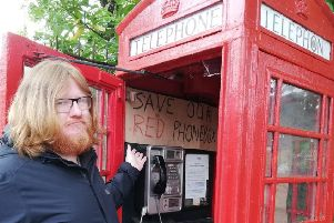 Chris Cotton organised the protest against the removal of the iconic phone box at Milngavie