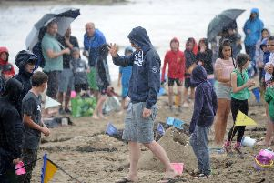 The gala parade has been cancelled at tomorrow's Aberdour Festival due to the heavy rain forecast. There were heavy downpours at last year's event too. Pic: George McLuskie.