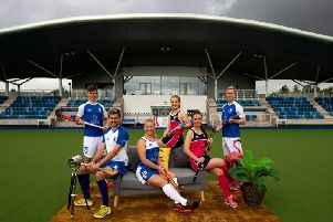 Kaz Cuthbert (front left) will captain Scotland at the EuroHockey Championship II in Glasgow