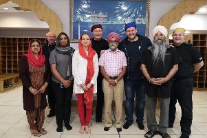 Police officers visited Glasgow Gurdwara to provide 3rd Party Reporting training.