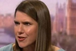 Jo Swinson on the Andrew Marr show. Pic: BBC