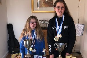 Bearsden skiing champion sisters Grace (right) and Isla Cameron
