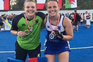 Catriona Booth (right) helped Scotland under-21s to European promotion