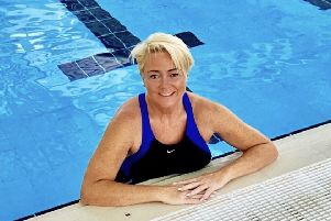Donna Nelson, from Eskbank is to swim a 20km relay in St Mary's Loch, where her son's ashes are scattered.