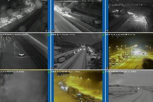 Traffic Scotland published CCTV images of the motorway network near Cumbernauld on Wednesday night