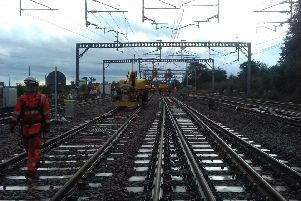 Network Rail put the finishing touches to the project at Rutherglen
