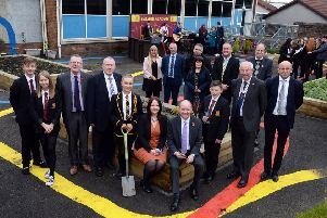 The opening of the sensory garden at Bellshill Academy