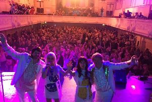 Voulez Vous took a selfie at the end of last year's gig in Airdrie