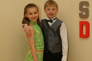 Dylan Millar with his dance partner Alexis Earlie