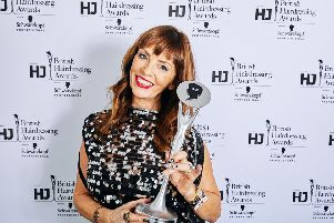 Suzie McGill was named Scottish Hairdresser of the Year for a third time and is now a hall of famer. Pic: Jon Bradley