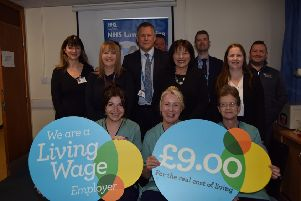 NHS Lanarkshire celebrates being accredited by Living Wage Scotland