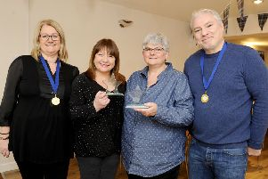 Oonagh Sear, support worker; Maureen Kilgour, assistant team manager; Linda Matthew, development manager and Stefano Fazzone, support worker.