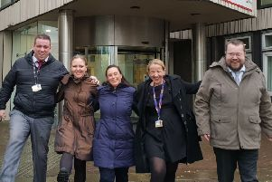 The Take a Hike team from North Lanarkshire Council's legal services won the Autumn Step Count Challenge 2018
